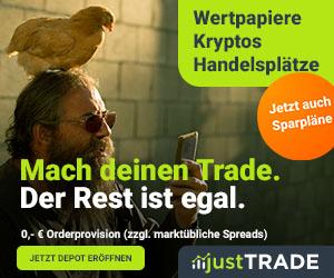 Wertpapier- und Kryptohandel justTRADE